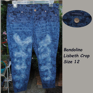 BANDOLINO Lisbeth Crop Patterned Jeans Size 12